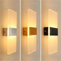 apliques de baño accesorios de iluminación al por mayor-New Modern 3W 6W de aluminio de pared luces de la cocina del restaurante / Salón Dormitorio accesorios de baño LED de interior lámpara de pared Lámparas
