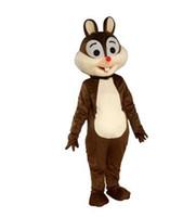 ingrosso costume da abito scoiattolo-Costume della mascotte dello scoiattolo Costume della mascotte del fumetto della mascotte dello scoiattolo del costume Vestito operato da Halloween per l'evento del partito