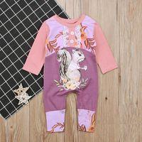 fd713c52b3ca Baby squirrel long sleeve onesie Cute girls animal pattern long sleeve  jumpsuit for 0-2T. 5% Off