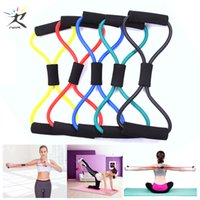 Wholesale workouts equipment resale online - 8 Word Fitness Rope Resistance Bands Rubber Bands for Fitness Elastic Band Fitness Equipment Expander Workout Gym Exercise Train