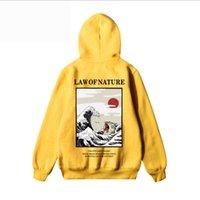 ingrosso maglione stile hip hop-Mens cappuccio High Street Style Hip Hop allentato di stile di stampa Felpa con cappuccio cappotto asiatico formato S-2XL