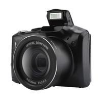 câmera digital 3.5 tela venda por atacado-Câmera SLR Digital de 3.5 Polegadas Tela de Exibição 24MP Anti-Agitação Micro SLR câmera 5x Zoom Óptico Digital HD câmera de vídeo lente grande-angular