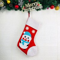 Wholesale pouch socks resale online - Christmas Stockings Tree Decorations Ornament Socks Large Capacity Pouch Shopping Mall Kids Hanging Embroidered Party Gift Bag