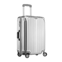 Wholesale cases suitcases resale online - 2019 new inch ABS Trolley Case Aluminum Alloy travel case Cardan wheel Trolley Case trend