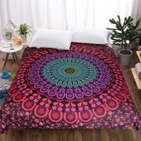 cobertores edredones al por mayor-Edredón de la cubierta extraíble Mandala colchas de cama impreso bohemio de Boho Coverlets de la cubierta del edredón de 1 pieza de alta calidad