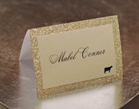 Wholesale wedding name place cards for sale - Group buy Gold Silver Red Champagne Purple Glitter Wedding Table Numbers Place Cards Escort Name Card for Quinceanera Evening Party Favors