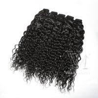 Wholesale magic hair weave for sale - Group buy Mongolian Customized Curly Weave to Inch g Human Hair No Tangle No Sheddin Unprocessed Magic Wrap Ponytail Natural Color