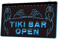 luces tiki bar al por mayor-[LS0017] Open Tiki Bar Pub NUEVO grabado 3D LED Sign on Demand Personalizar 8 colores