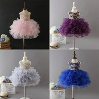 Wholesale baby girl first birthday tutu for sale - Group buy First Communion Dresses baby girls wedding dress toddler kids ball gown infant christmas years old birthday party tutu princess skirts