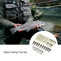 Wholesale led terminals for sale - Group buy 50pcs Terminal Carp Fishing Tackle Safety Lead Clips with Pins Tail Rubber Tubes Sleeves Quick Change Rolling Swivel