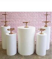 5pcs Round Cylinder Pedestal Display Art Decor Plinths Pillars for DIY Wedding Decorations Holiday Dessert table