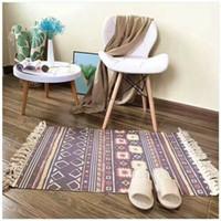 baumwollwebartteppiche großhandel-Schaffen Gewebte Indische Baumwolle druck Tribal Area Teppich Bodenmatte Boho Dekorative Werfen Geschenke 2019 NEUE 3 #