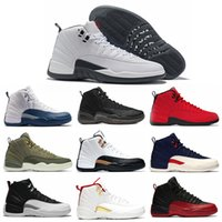 Wholesale french blue 12 resale online - Men Basketball Shoes s Reverse Taxi FIBA Game Royal White Grey Midnight Black Gym Red University French Blue Mens Trainer Sport Sneaker