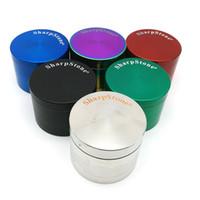 bitki vaporizer öğütücü toptan satış-DHL ücretsiz 40mm 50mm 55mm 63mm 4 parça SharpStone Tütün Öğütücü herb değirmeni cnc diş filtre net kuru ot buharlaştırıcı kalem 6 renkler