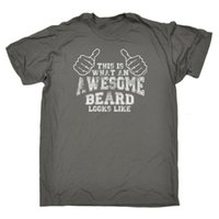 Wholesale hair multi color brand resale online - What Awesome Beard Looks Like T SHIRT Dad Brother Hair Funny birthday gift Summer New Fashion Brand Tshirt Solid Color
