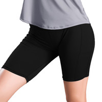 Wholesale dance black tight yoga pants resale online - Women s Sport Short Solid Yoga Gym Workout Waistband Skinny Dancing Tight Fitness Shorts Athletics Pants and Shorts