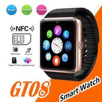 en iyi mesajlar toptan satış-En çok satan Akıllı İzle 20 adet / grup GT08 Saat Sim Kart Yuvası Ile Itin Mesaj Bluetooth Bağlantısı Android Telefon Smartwatch DZ09