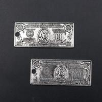 silber-dollar-armband großhandel-WKOUD 6 stücke Antike Silber Metallic Dollar Vorlage Glamour Legierung Anhänger Vintage Halskette Armband DIY Handgemachten schmuck ...