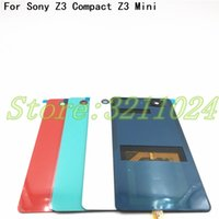 Wholesale cases for xperia z3 online – custom For Sony Xperia Z3 Compact D5803 D5833 Case Glass Battery Housing Cover for Z3 Mini Replacement Back Cover Cases With