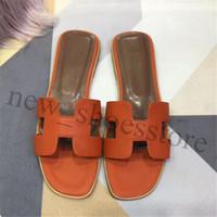 ingrosso pantofole di cuoio delle donne pu-2019 nuove donne a strisce pantofole sandali moda in pelle di lusso causale antiscivolo estate spiaggia pantofole infradito pantofola 35-42 di alta qualità