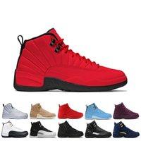 sapatos freeshipping venda por atacado-Freeshipping 12 12 s homens tênis de basquete tênis preto branco playoff o mestre ginásio gama vermelha azul 12 s mens sports shoes 7-13