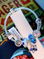 fivela de aço inoxidável artesanal venda por atacado-Brand Newest Hematita Beads Charme Bangle Handmade Aço Inoxidável Fivela Cuff Bracelet Para As Mulheres estalo de Jóias por atacado 0325