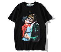ingrosso camicia zombie-2019 T shirt uomo estate designer t-shirt off t-shirt bacio Zombie Vampire logo stampato freccia tendenza tee