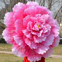 guarda-chuvas 3d venda por atacado-Guarda-chuva de dança 3D Dança Desempenho Peônia Flor Umbrella Chinês Multi Layer Pano Guarda Chuvas Adereços Palco KKA7135