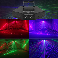 party-scanner beleuchtung großhandel-Guter Effekt DMX Disco Scanner Laser Stage Light Club Tanzmuster Effekt Show LED Beam Projektor für Home Party
