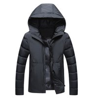 Wholesale parka for resale online - winter jacket for mens clothing winter coat down parkas hooded thickening warm windbreaker outerwear overcoat snow tops plus size M XL XL