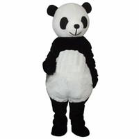 venda de trajes de mascote de urso venda por atacado-2019 Desconto venda da fábrica Barato Novo casamento Panda Bear Mascot Costume Fancy Dress Adulto Tamanho shippng livre