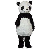 maskot kostümleri satmak toptan satış-2019 İndirim fabrika satış Ucuz Yeni düğün Panda Ayı Maskot Kostüm Fantezi Elbise Yetişkin Boyut ücretsiz shippng