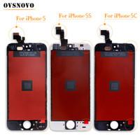iphone 5 lcd screen оптовых-Овсново Экран высшего качества для iPhone 5 ЖК-экран и замена сенсорного экрана планшета для iPhone 5c 5s 6 6 плюс ЖК