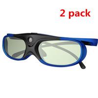 3d gözlük 144hz toptan satış-Xgimi Z3 / Z4 / Z6 / H1 / H2 Kuruyemiş G1 / P2 Acer DLP LİNK Projektör için 2 adet Active Shutter Şarj edilebilir 3D DLP Gözlük Destek 144HZ