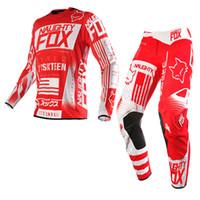 bmx yarış bisikleti toptan satış-2016 Yarış 360 Yarış Jersey Pantolon Combo erkek Motocross / MX / ATV / BMX Dirt Bike MTB DH MX Off-Yol Seti