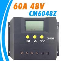 48v ladungscontroller großhandel-Freeshipping 60A 48V cm6048z Solarsteuerpult PV-Verkleidung Batterieladeregler Solaranlage Hauptinnengebrauch Neu