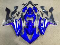 carénage personnalisé yzf r1 achat en gros de-Nouveau carénage en ABS digne de Yamaha YZF1000 07 08 2007 2008 Kit de carénage pour moto R1 TOP moulage par injection R1 capot en plastique personnalisé bleu gris