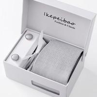 Wholesale handkerchief dotted resale online - Gift box packing men brand luxury necktie pocket square wedding mens neck ties silk tie set cufflinks handkerchief