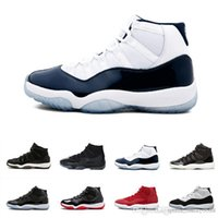 ingrosso nero 11s-Cap and Gown 11 XI 11s PRM Heiress Black Stingray Gym Red Chicago Midnight Navy Space Jams Men Basketball Scarpe sportive Sneaker