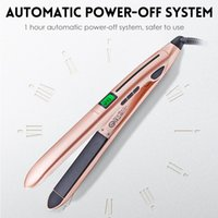 Wholesale ceramic flat curler for sale - Group buy Professional Hair Straightener Curler Hair Flat Iron Negative Ion Infrared Hair Straighting Curling Iron Corrugation LED Display Free DHL