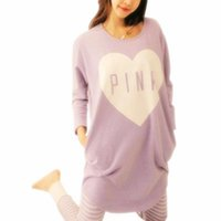 plus größe polyester-pyjama großhandel-2018 Frauen Pyjama Sets Sommer Frühling Nachtwäsche Frauen Langarm Nette Pyjamas Mädchen Kawaii Nacht Homewear Nachthemd Plus Größe