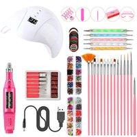 Wholesale jewelry tools kit resale online - Novice recommendation Classic Manicure Tool Set Smart Manicure Lamp USB Polisher Nail Pen Nail Jewelry Set Manicurist salon Nail Art Kits