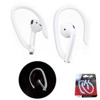bluetooth kulak kancalı kulaklıklar toptan satış-Koruyucu Kulak Kancası Tutucu Airpods için Güvenli Fit Hooks Bluetooth Kulaklık Kablosuz Kulaklık Aksesuarları Silikon Spor Anti-kayıp Kulak Kancası