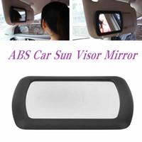 araba iç güneşlik toptan satış-Araba Güneşlik Kozmetik Ayna İç Narin Makyaj Aynası Bayanlar Için Metal Klip Ile HHAA53