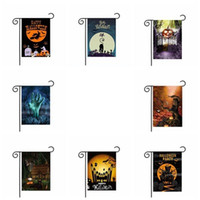 Wholesale home garden accessories for sale - Group buy 30 cm Bar Halloween Flags Pumpkin Witch Bat Polyester Banner Decoration Party Home Garden Indoor Accessory Ornament Bar Flag EEA442