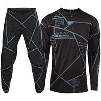 motocross, corrida, calças venda por atacado-2019 Motocross Dirt Bike Suit Top Gear Motos Set MX Jersey e calças Moto Bike Racing Vestuário T