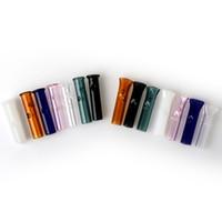 mini sigaralar toptan satış-Kuru Ot Tütün için Mini Cam Filtre İpuçları Tütün Ağızlı Pyrex Ile HAM Yuvarlanan Kağıtları Cam Yuvarlak Düz Ağız Filtre İpuçları