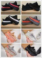 çocuklar spor ayakkabı markası toptan satış-Tasarımcı Marka Kalite Çocuklar Ayakkabı Bebek Yürüyor Run Kanye West Koşu Ayakkabıları Tereyağı Yarı Zebra Çocuk Oğlan Kız Beluga 2.0 Sneakers