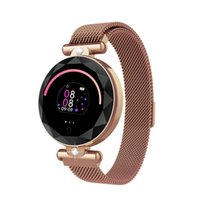 Wholesale luxury fitness tracker online – Luxury Smart Watch Women Sports Bracelet Gold Elegant Fitness Trackers IP67 Waterproof Activity Sleep Fitness Heart Rate Hot