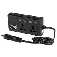 universal-laptop ac-dc-netzteil großhandel-200W Wechselrichter mit 4 USB-Ports DC 12V zu AC 220V Wechselrichter mit universellen 2 Wechselstromanschlüssen Ladegerät Adapter für Auto-Laptop-PSP-Kamera-Telefone